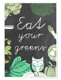 Premium poster Eat your greens