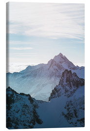 Canvas print  Fleckistock mountain peak above cloudscape  View from Titils mountain peak, Lucerne, Switzerland - Peter Wey