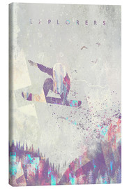 Canvas print  Explorers snowboard - HappyMelvin