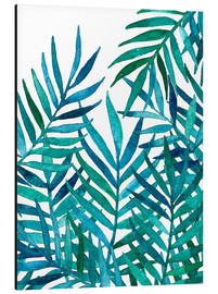 Aluminium print  Watercolor Palm Leaves on White - Micklyn Le Feuvre