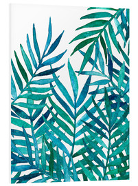 Foam board print  Watercolor Palm Leaves on White - Micklyn Le Feuvre