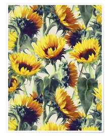 Poster Sunflowers forever