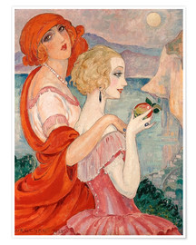 Poster  On the road to Anacapri - Gerda Wegener