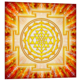 Foam board print  Sri Yantra - artwork light - Dirk Czarnota