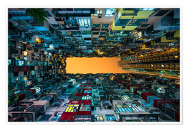 Poster  Skyscrapers in Hong Kong - Jan Christopher Becke