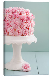 Canvas print  Cake with roses made of sugar - Elisabeth Cölfen