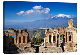 Canvas  Greek theater of Taormina, Sicily, Italy - Circumnavigation