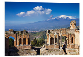 Foam board print  Greek theater in Taormina, Sicily - Circumnavigation