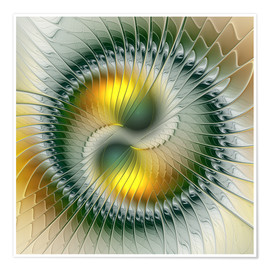gabiw Art - Like Yin and Yang Abstract Fractal Art