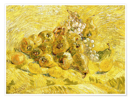 Premium poster  Quinces, Lemons, Pears and Grapes - Vincent van Gogh