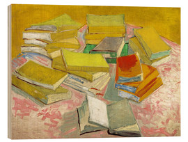 Wood print  French Novels - Vincent van Gogh