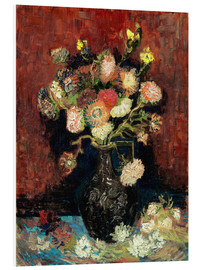 Forex  Vase with Chinese Asters and Gladioli - Vincent van Gogh
