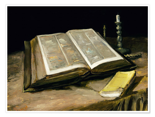 Premium poster Still Life with Bible
