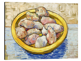 Alu-Dibond  Potatoes in yellow bowl - Vincent van Gogh