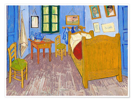 Premium poster Vincent's bedroom, Arles