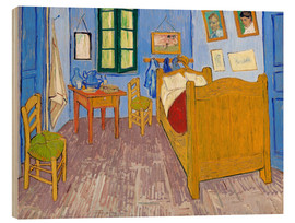 Wood print  Vincent's Bedroom, Arles - Vincent van Gogh