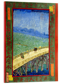 Acrylic print  The bridge in the Rrain (after Hiroshige) - Vincent van Gogh