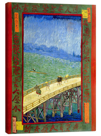 Canvas print  The bridge in the Rrain (after Hiroshige) - Vincent van Gogh