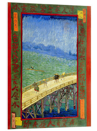 Foam board print  The bridge in the Rrain (after Hiroshige) - Vincent van Gogh