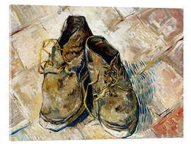 Acrylic glass  A Pair of Shoes - Vincent van Gogh