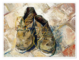Premium poster  A Pair of Shoes - Vincent van Gogh