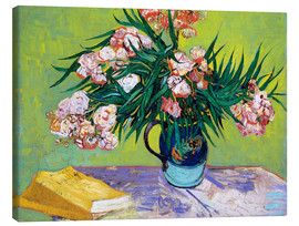 Canvas print  Majolica Jar with Branches of Oleander - Vincent van Gogh