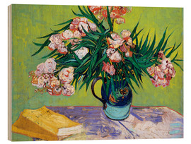 Wood print  Majolica Jar with Branches of Oleander - Vincent van Gogh