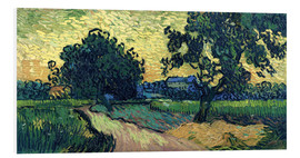 Forex  Field with Trees, the Chateau of Auvers - Vincent van Gogh