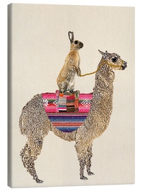 Canvas print  Alpaca with hare - GreenNest