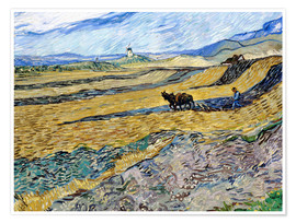 Poster Enclosed Field with Ploughman
