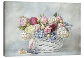 Canvas print  a basket full of spring - Lizzy Pe