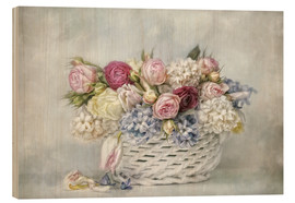 Wood  a basket full of spring - Lizzy Pe