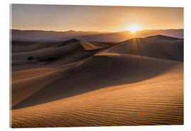 Acrylic print  Sunset at the Dunes in Death Valley - Andreas Wonisch