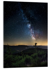 Acrylic print  Milky Way over Black Forest - Andreas Wonisch