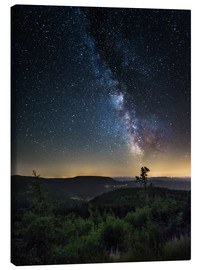 Canvas print  Milky Way over Black Forest - Andreas Wonisch