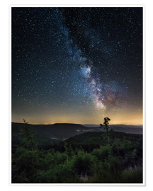 Premium poster Milky Way over Black Forest