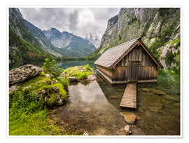 Premium poster  Lonely Hut at Obersee / Königssee - Andreas Wonisch