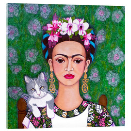 Acrylic print  Frida cat lover - Madalena Lobao-Tello