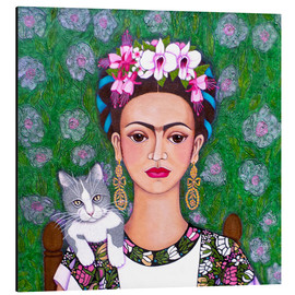 Alu-Dibond  Frida cat lover - Madalena Lobao-Tello