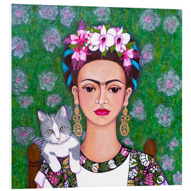 Foam board print  Frida cat lover - Madalena Lobao-Tello