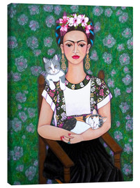 Canvas  Frida cat lover - Madalena Lobao-Tello
