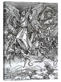 Canvas print  Michael Slaying the Dragon - Albrecht Dürer