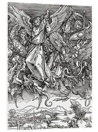 Foam board print  Michael Slaying the Dragon - Albrecht Dürer