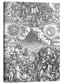 Canvas print  Opening of the sixth seal - Albrecht Dürer