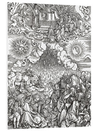 Foam board print  Opening of the sixth seal - Albrecht Dürer