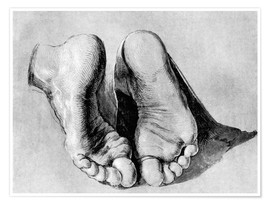 Poster  Feet of an apostle - Albrecht Dürer