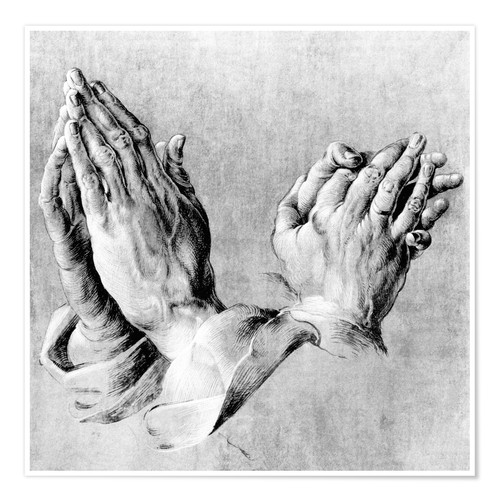 Premium poster Hands of the Pope and an apostle