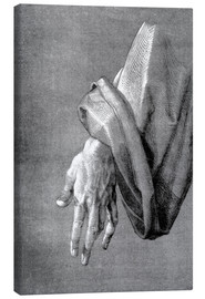 Canvas print  Left hand of an apostle - Albrecht Dürer