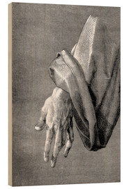 Wood print  Left hand of an apostle - Albrecht Dürer