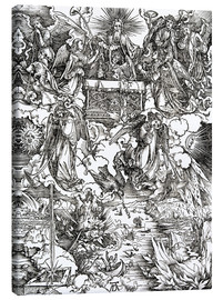 Canvas print  Seven angels with trumpets - Albrecht Dürer